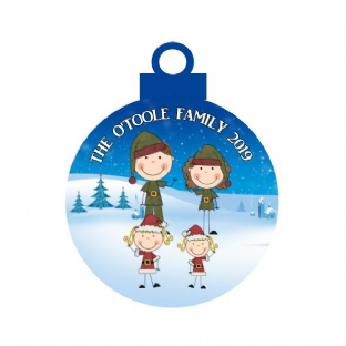 Elf Family Acrylic Christmas Ornament Decoration